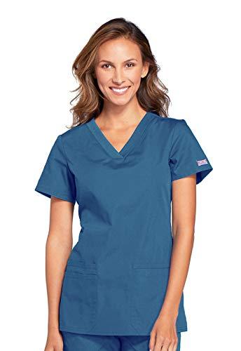 Cherokee - Camiseta de manga corta para mujer, con cuello en V., Cuello en V., L