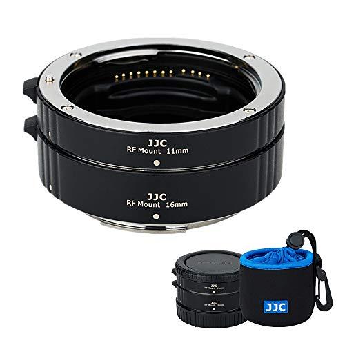 JJC 接写リング デジタル接写リングセット Canon RF マウント用 EOS R5 R6 R RP Ra 対応 11mm+16mmセット ボディキャップとリアレンズキャップ 付属