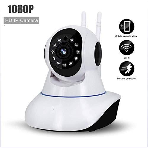 Mengen88 Cámara de vigilancia sin Hilos de HD de Interior y al Aire Libre Dual-utilice 1080P con el Paso de Voz de la Ayuda del micrófono de Dos vías/la visión Nocturna Ultra Clara
