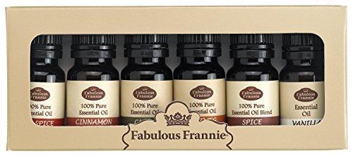 100% Pure Essential Oil Fall Set - Allspice, Cinnamon,...