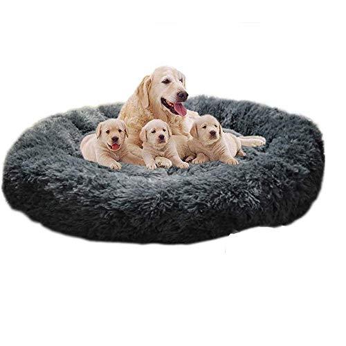 GAOZHEN Cama para perro ortopédica grande y calmante, canasta de dormir de piel sintética suave, sofá cama para perros medianos y grandes Golden Retriever, perro alemán, lavable