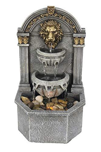 Warm Garden Lion's Head Fountain Relaxation Fountain for Interior Decoration Indoor Fountain Tabletop Fountains