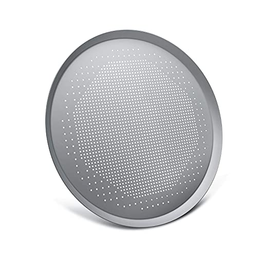 Pizza Pan 16 Inch, Beasea Pizza Dish for Oven Perforated Pizza Crisper Tray with Holes Aluminum Alloy Round Oven Pizza Tray Food Network Pizza Pan Baking Tray Bakeware for Home Restaurant Kitchen