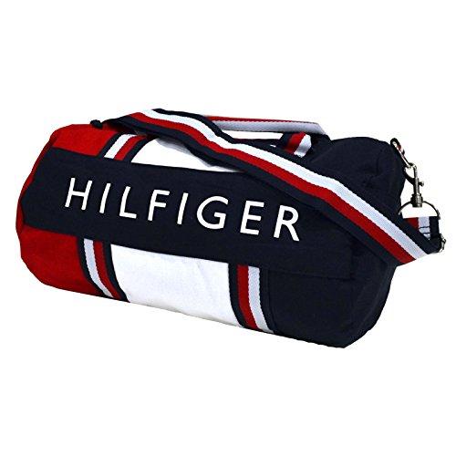 Tommy Hilfiger Duffle Bag, Sporttasche, Reisetasche, Patriot Colorblock, aus Canvas, 55 x 30 x 30cm