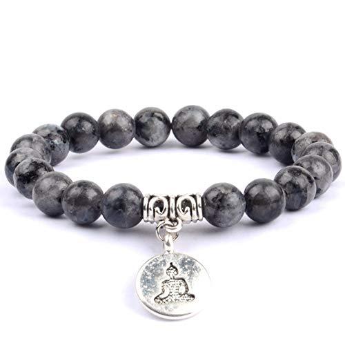 DLIAN Klassieke Boeddha-armband, voor vrouwen, natuurlijke tijgeroog, barnsteen, parels, armband, yoga, charme, armband, sieraden, pulsera, Hombres