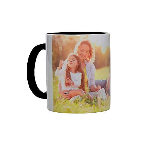 Stampa la Tua Foto su Tazza Personalizzata, Modello Mug in Ceramica per Uso Regalo, Alimentare e arredo (Nero, 300 ml)