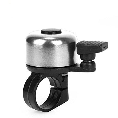 Vovotrade Campanello campana anello di manubrio per bicicletta bici alluminio nero Handlebar Bell, argento