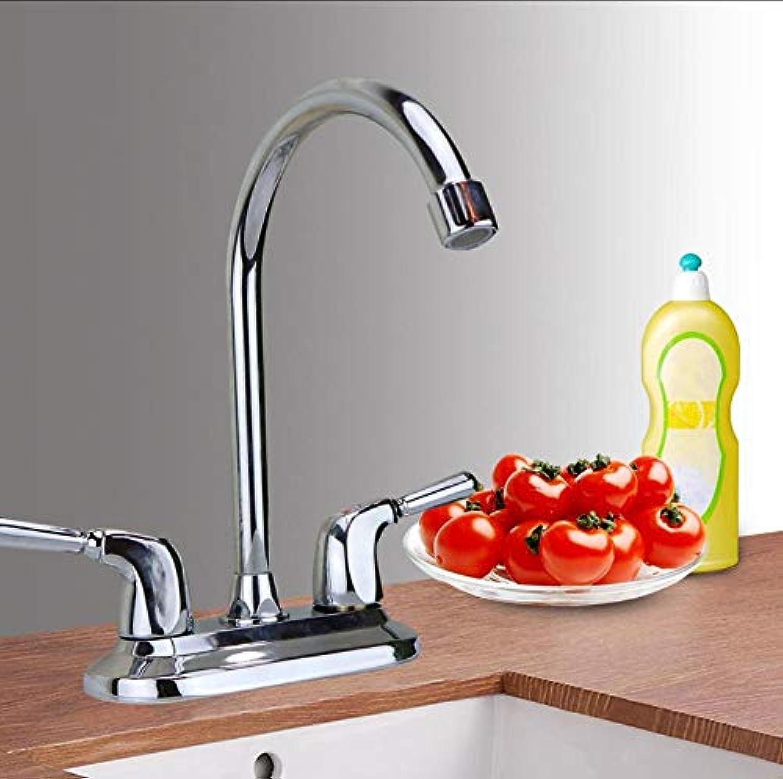 Spültischarmatur Dual Hole Wand Küchenarmatur Bad Wasserhahn