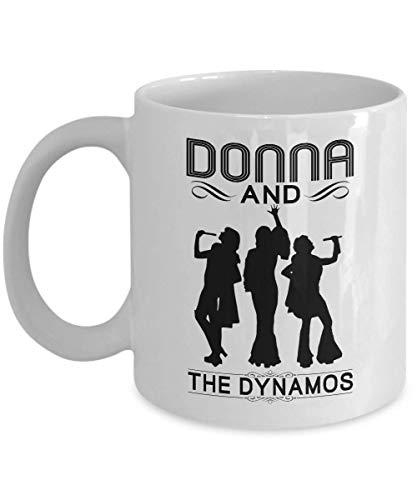 Donna and the dynamos ceramic coffee mug cup-mamma mia merchandise-mamma mia mug cup-Meryl Streep Christine Baranski Julie walters mugs cups