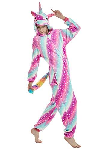 Pyjama Licorne Adulte Enfant Kigurumi Combinaison Animaux Unicorn Jumpsuit Overall Unisexe Vêtement...