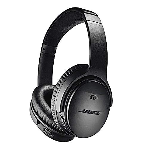 Bose QuietComfort 35 (Series II) Wireless Headphones, Noise Cancelling, Alexa Voice Control - Black - Worldwide Version