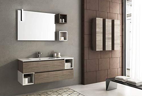 afnedesign. com - Meuble de salle de bain, miroir avec éclairage à lED