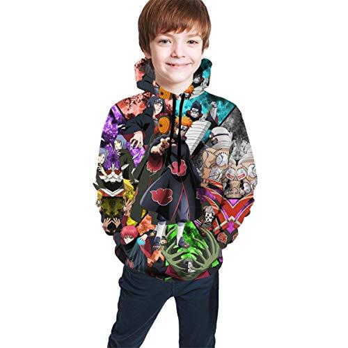 maichengxuan Na-ruto - Sudadera con capucha para niños y niñas, impresión 3D, estilo casual, con bolsillo, 7-20 años