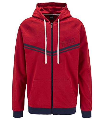 BOSS Herren Authentic Jacket H Sweatshirt, Bright Red625, XL