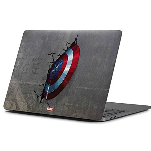 Skinit Decal Laptop Skin Compatible with MacBook Pro 15-inch (2016-17) - Officially Licensed Marvel/Disney Captain America Vibranium Shield Design