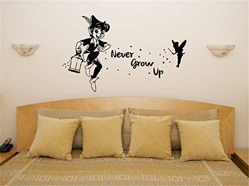 Tinkerbell Wall Decal Peter Pan nie aufwachsen Tinkerbell Art Decal Aufkleber Bild Poster Kinderzimmer Wand Dekor