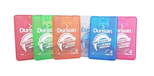 Our #3 Pick is the Durisan Alcohol-Free Travel Hand Sanitizer