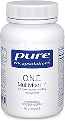 Pure Encapsulations - O.N.E. Multivitamin - Comprehensive Once-Daily Multivitamin - 60 Capsules