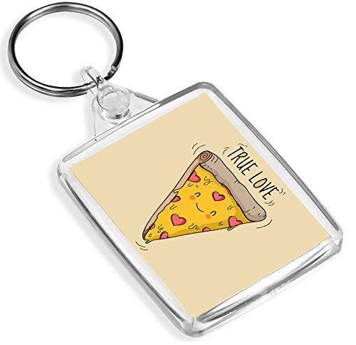 Destinazione vinile Portachiavi Pizza Slice True Love Portachiavi Comfort Food teenager Fun portachiavi regalo # 14697