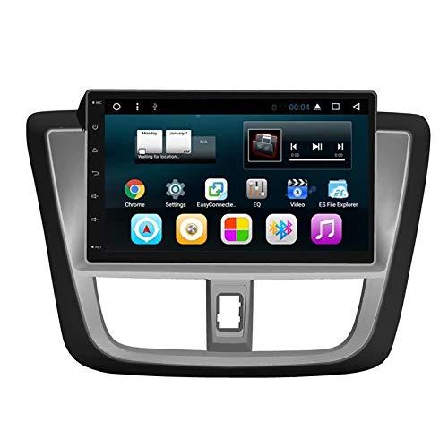 TOPNAVI pour Toyota Vios 2017 2018 Android 7.1 Voiture Navigation Radio Stéréo avec GPS WiFi 3G RDS Lien Miroir BT Audio Vidéo Numérique TV OBD Dab Caméra Carplay en Option