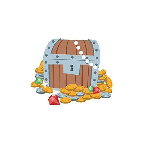 Sticker Garçon : Trésor des Pirates - Format : 100 x 83 cm