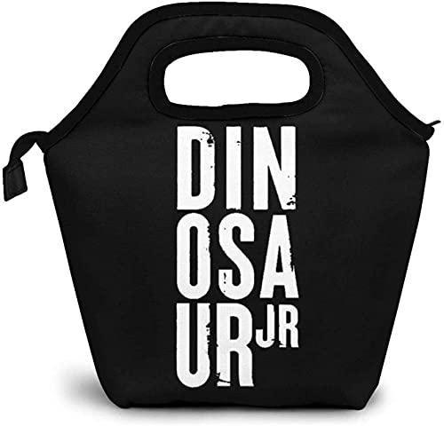 DINOSAUR jr Ligero y Portátil Bolsa Nevera Bolsa Aislada para el Almuerzo Recipientes Térmicos para el Almuerzo Bolsas para Bebidas Reutilizables para el Trabajo Universitario Picnic Senderismo
