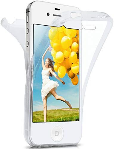 MoEx Coque intégrale en Silicone Compatible avec iPhone 4s / iPhone 4 | 360° - Transparent, Transparent