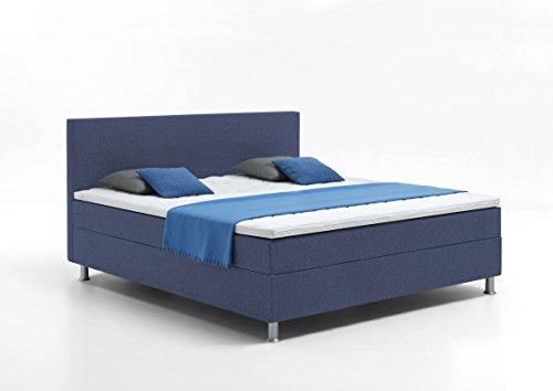 Atlantic Home Collection EDISON Boxbett, Liegefläche 160 x 200 cm, Härtegrad H2, inklusive Topper, blau