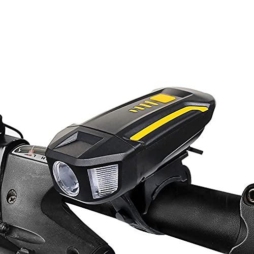 SAHWIN Luz Bicicleta Recargable USB,Luz Bicicleta Potente Delantera Y Trasera,IPX5 Impermeable,3 Modos Ajustables,para Ciclismo Carretera Y Montaña para La Noche