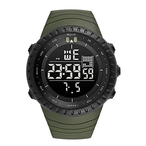 Mingtongli Hombres Bluetooth Deporte al Aire Libre del Reloj Masculino 50M Impermeable Luminosa de luz de Fondo Reloj Digital Boy Fecha Fecha Reloj