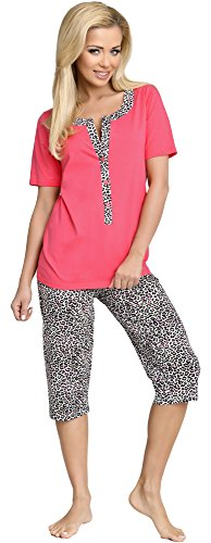Be Mammy Damen Schlafanzug Stillpyjama H2L2N2 (Coral, M)