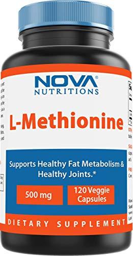 Nova Nutritions L-Methionine 500 mg 120 Veggie Capsules…