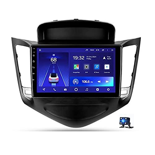 STTTBD 9'Android 10.0 2.5D Pantalla Radio Estéreo para Automóvil Navegación por Satélite, para Chevrolet Cruze 2009-2014 Soporte Bluetooth WiFi GPS Reproductor Multimedia Autoradio(Color:WiFi 4G+64G)