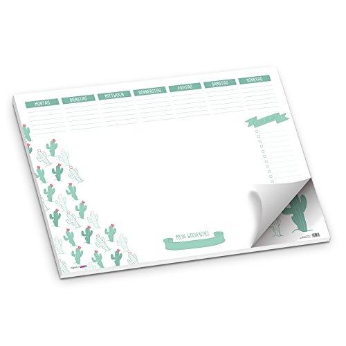 itenga Schreibtischunterlage Kaktus Kakteen Schreibtischunterlage DIN A2 50 Blatt