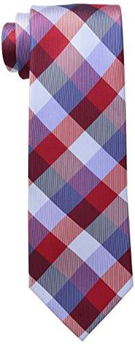 Tommy Hilfiger mens Buffalo Tartan neckties, Red, Regular US