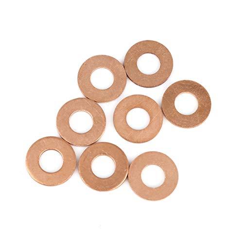 X AUTOHAUX 8Stk. Kupferscheibe Flachdichtringe Ring für Auto 8 x 18 x 1,5 mm