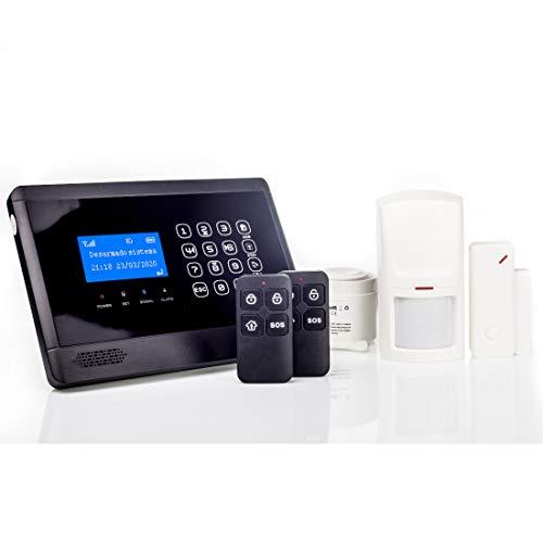 AAPC - Kit Alarma M2BX, gsm/SMS/LCD, Sin Cuotas