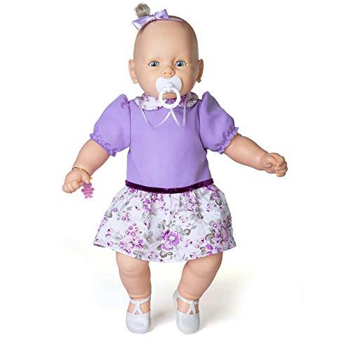 Boneca Meu Bebe Vest Lilas Estrela