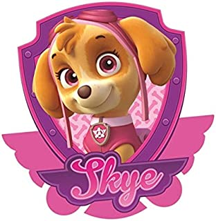 5 Inch Skye Paw Patrol Pup Wall Decal Sticker Pups Puppy Puppies Dog Dogs Removable Peel Self Stick Adhesive Vinyl Decorative Art Kids Room Home Decor Children 5 x 5 inches