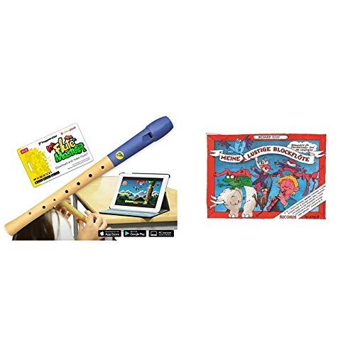 VoggenreiterBlockflöte aus Holz & Kunststoff für Kinder ab 6 Jahre und Anfänger inkl.Flute Master & Meine lustige Blockflöte - Band 1 (Barocke Griffweise): Flötenschule für Vorschulkinder