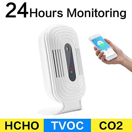HL Die Luftqualität Tester Professionelle Smog Meter PM2.5 Detektionsinstrument CO2 Formaldehyd TVOC Luftdetektor Smart Wi-Fi Zu Hause Luftdetektor