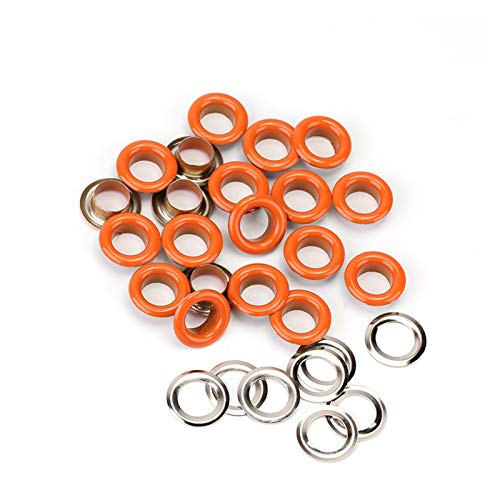 WRRPS Ojete 50sets / Pack (diámetro Exterior) 9.5mm (Interno) 5 mm Ojales de Bronce Ojales y Lavadora 18 Pinky Color Hermoso y practico (Color : Copper)