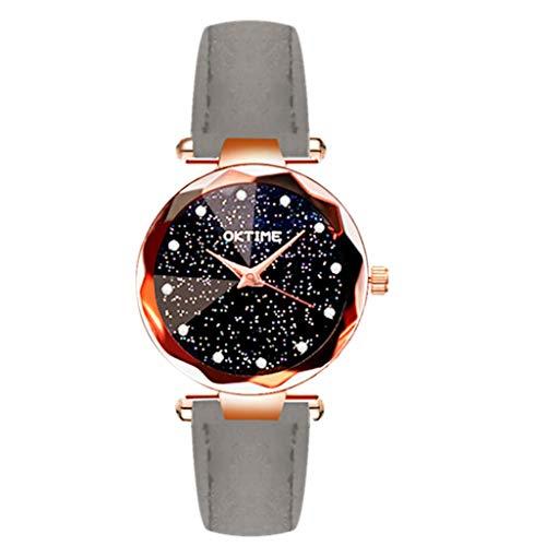 kolila Women's 2020 Newest Rhinestone Starry Diamonds Quartz Watch, Valentines Day Gift (Gray,one Size)