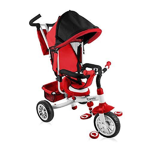 lorelli Tricycle b302a con techo, push-pole, Soft Asiento, cesta, Interior Asiento