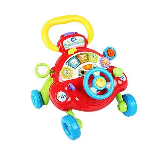 Baby Walker Multi-Fonction Anti-Rollover Vitesse Réglable Chariot pour Bébé Apprentissage Marcher Jouets FANJIANI