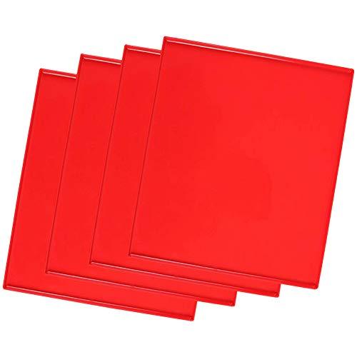 3Pcs Silicona Swiss Roll Mat Multifuncional Antiadherente Silicona Swiss Roll Back Matte, Torta de La Hornada de Pizza Pasteles Pad Bandeja de Herramientas 31.5x27x0.9CM color Rojo