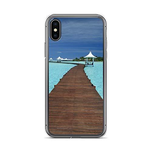 Funda para teléfono móvil Albatross Pelikan compatible con Huawei P10 Plus, con puente de agua, funda protectora transparente alrededor de la protección de dibujos animados M8