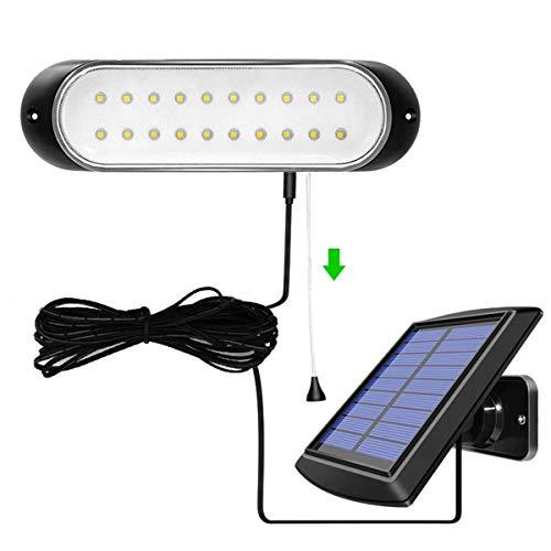 BRYSJ 20LEDS Trennbare Solarleuchte mit 5M Linie Außenbereich wasserdichte Solarlampe Pull-Switch Beleuchtung für Gartenhaus Zimmer