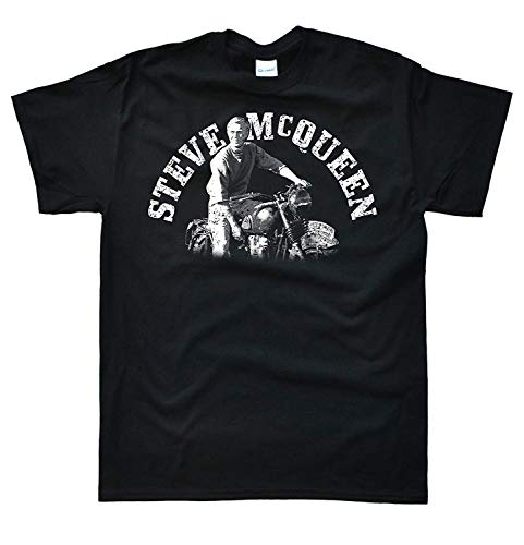RWYZTX® Men's Steve McQueen Motorbike T-Shirt