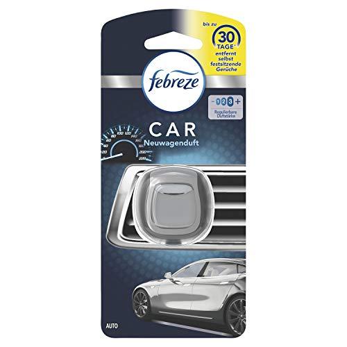 Febreze Auto Lufterfrischer (2 ml) Neuwagenduft, Auto Duft gegen Gerüche